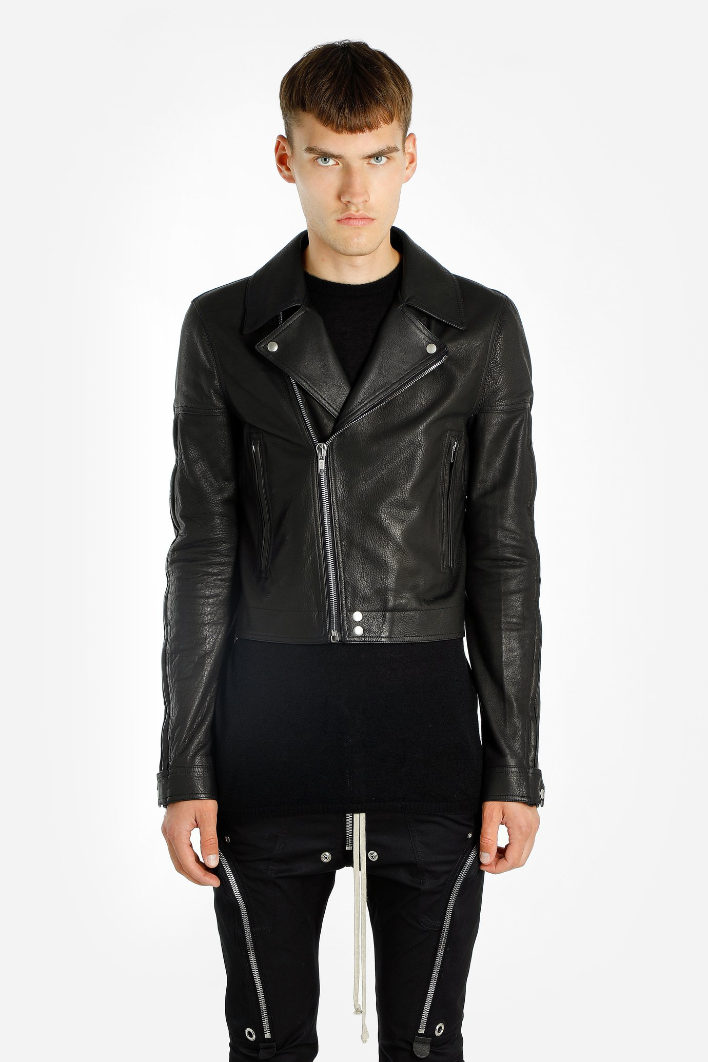 Image of Rick Owens Leather Jackets