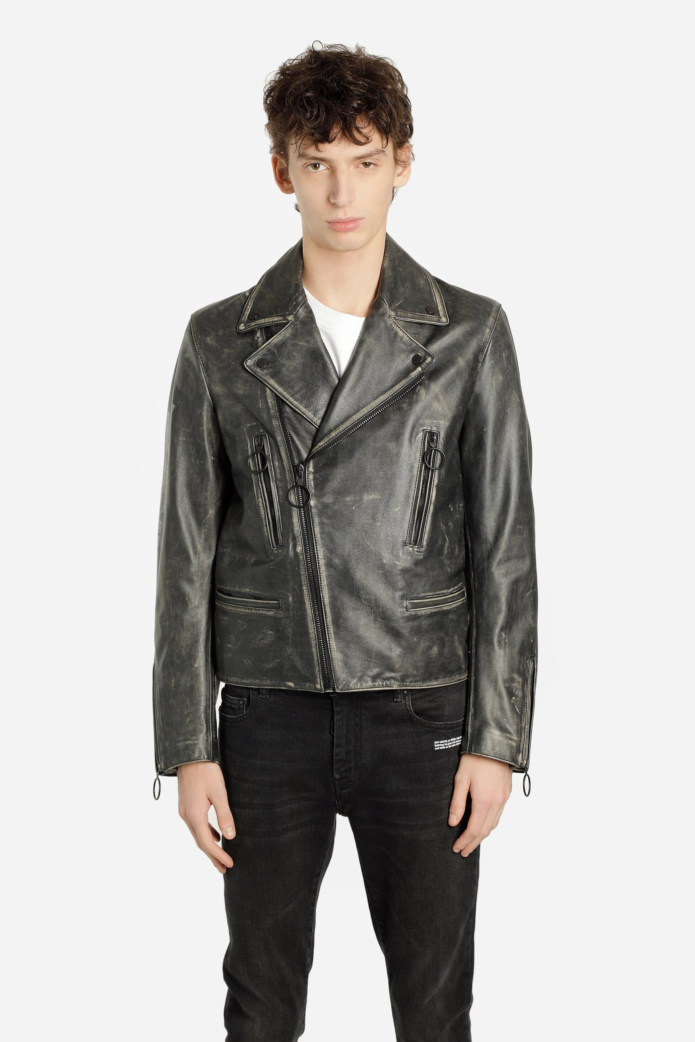 Off White C/O Virgil Abloh Leather Jackets