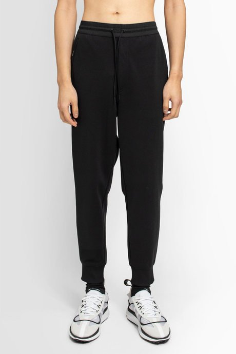 Zip Pockets To Ribbed Cuffs And Waist Mens Y-3 Classic Cuff Pants In Grey