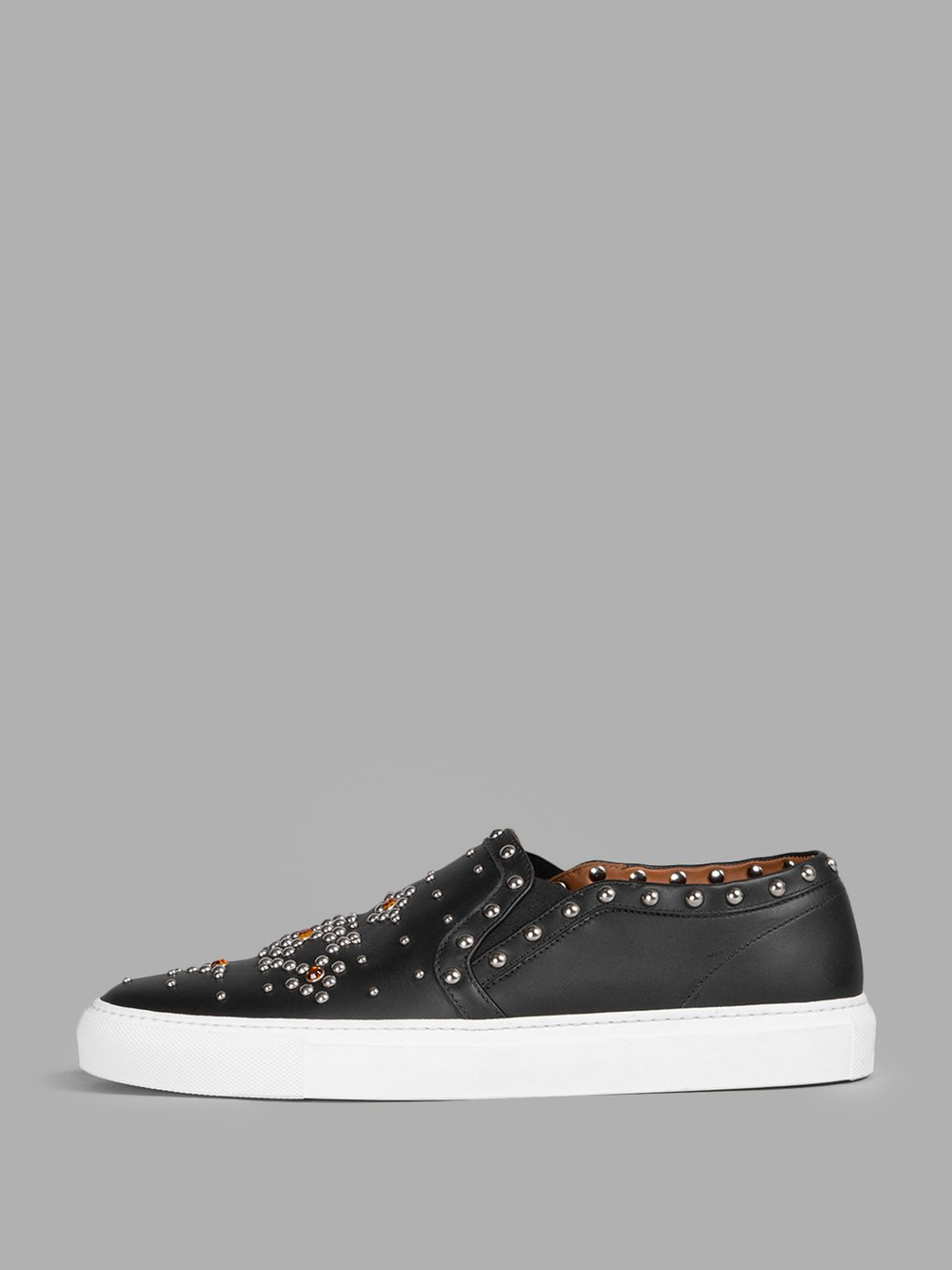 great deals 2017 undefeated x special section GIVENCHY BLACK SKATE SNEAKER WITH STUDS AND BEADS, BLACK-MULTI ...