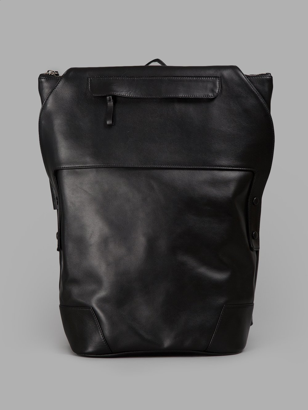 ANDREA INCONTRI BLACK UNCONVENTIONAL BACKPACK