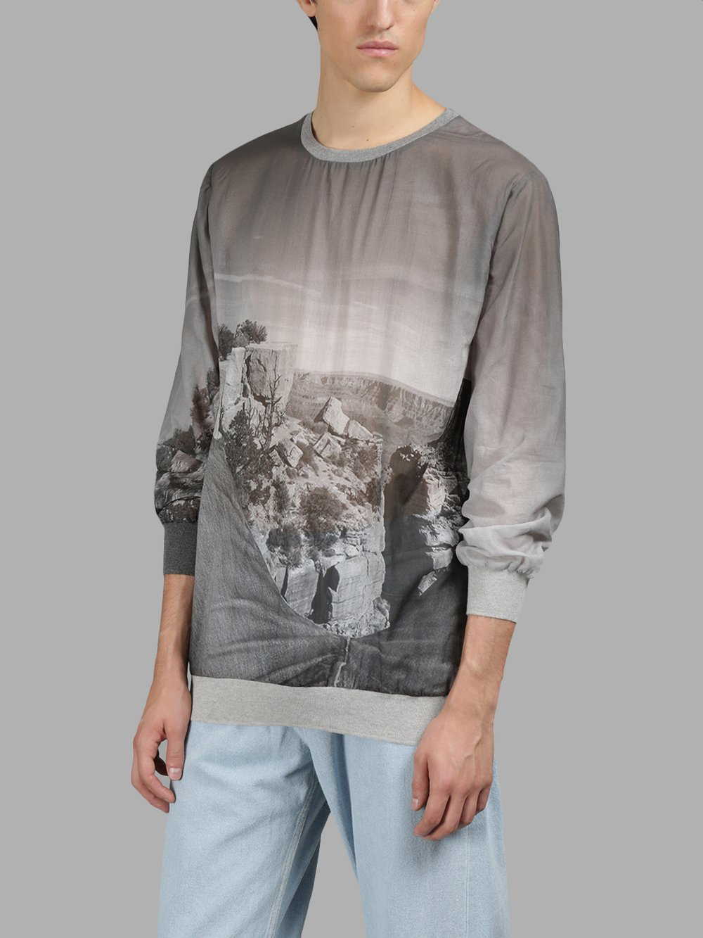 BLESS GREY PRINTED SWEATER