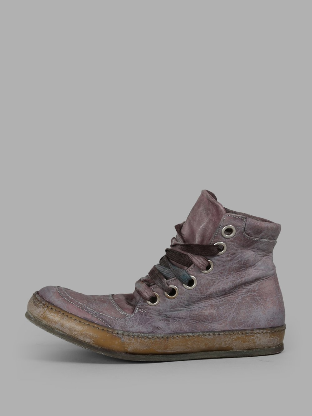 A DICIANNOVEVENTITRE Purple High Top Sneakers