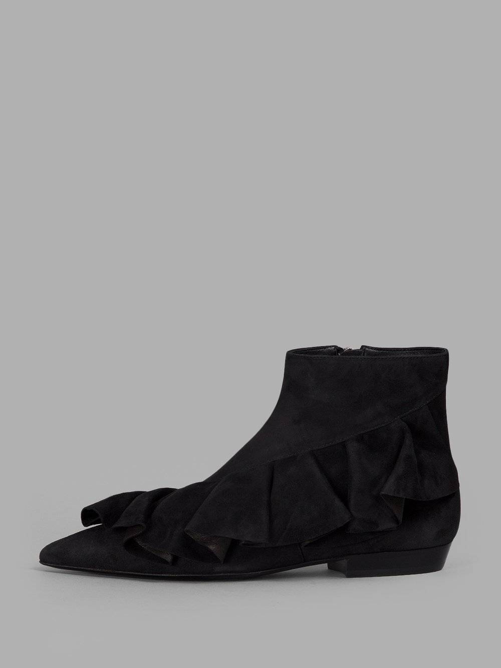 J.W. ANDERSON WOMEN'S  BLACK SUEDE ANKLE BOOTS