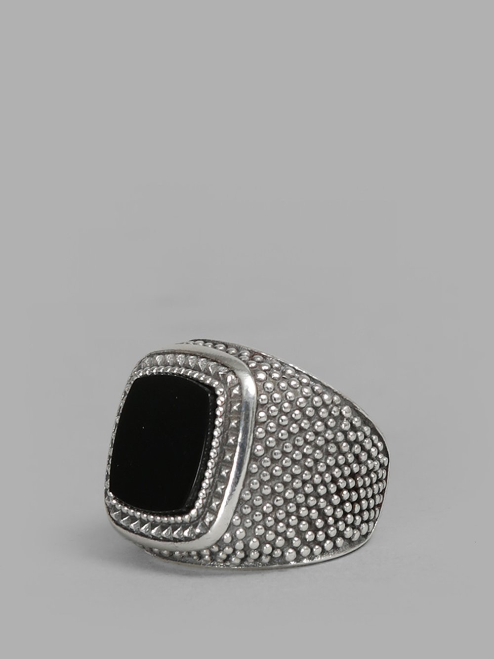 Silver Square Stone Ring