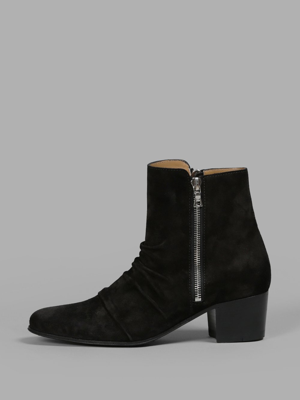 Skinny Stack Suede Ankle Boots - Black Size 6 from Antonioli
