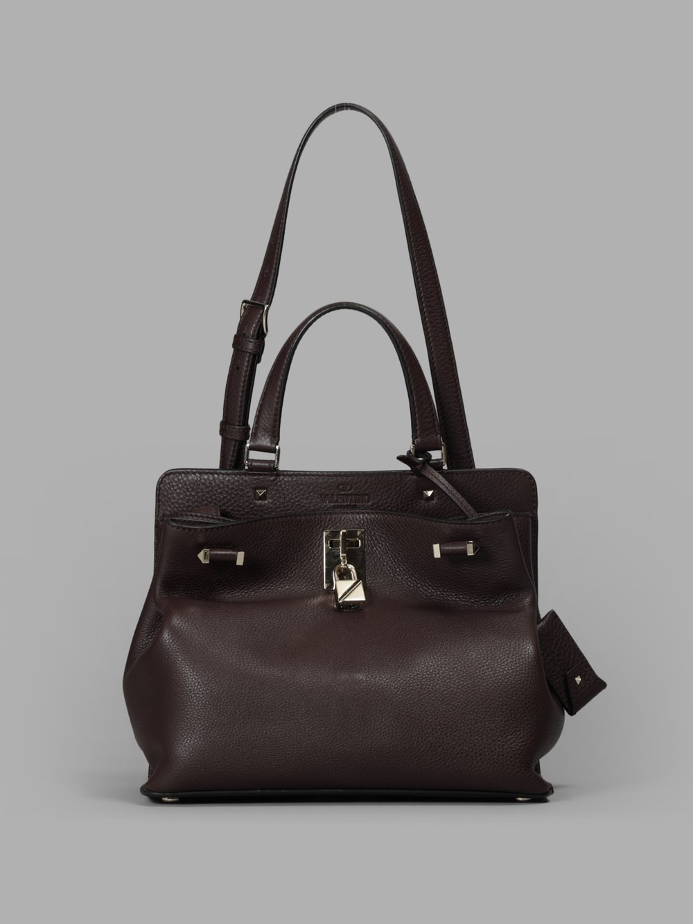 Valentino Woman'S Brown Medium Joylock Bag