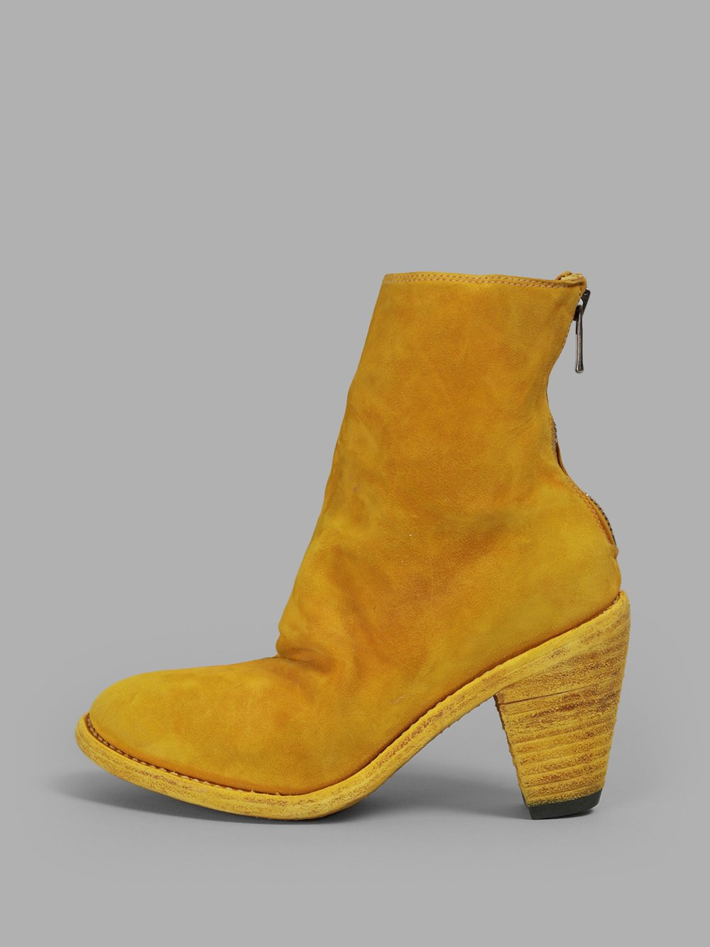 GUIDI WOMEN'S YELLOW BOOTS