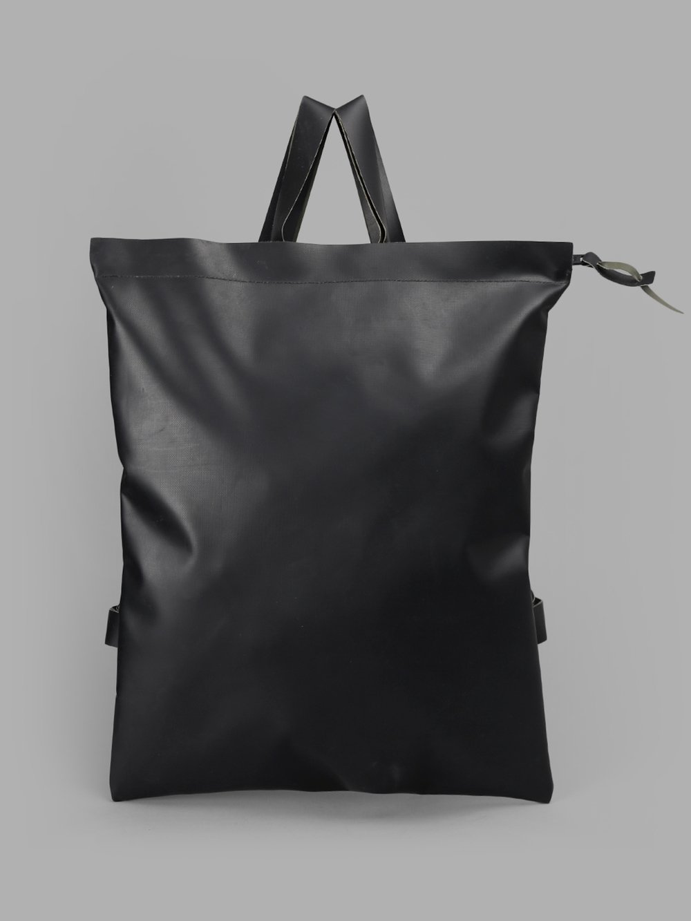DELLE COSE Delle Cose Black Bakcpack Made Out Of Original Military Rubber