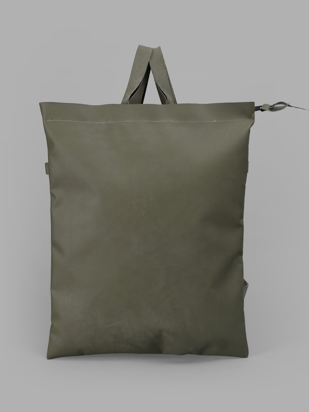 DELLE COSE Delle Cose Green Bakcpack Made Out Of Original Military Rubber