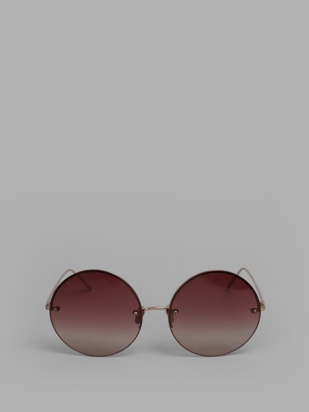 29a37f9ef5a Shop Linda Farrow Rose Gold And Burgundy Sunglasses In 18 Carat Rose ...