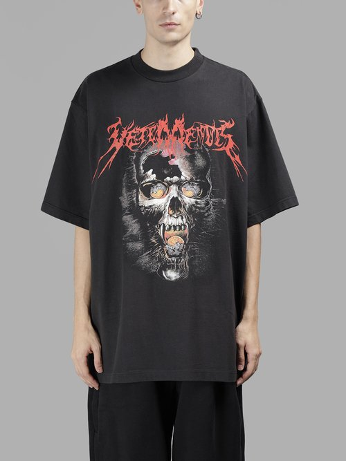 Clearance 100% Authentic Black Metal T-Shirt VETEMENTS Buy Cheap 2018 Newest Websites Cheap Online Buy Cheap Clearance Store 6bdZ2yErOm