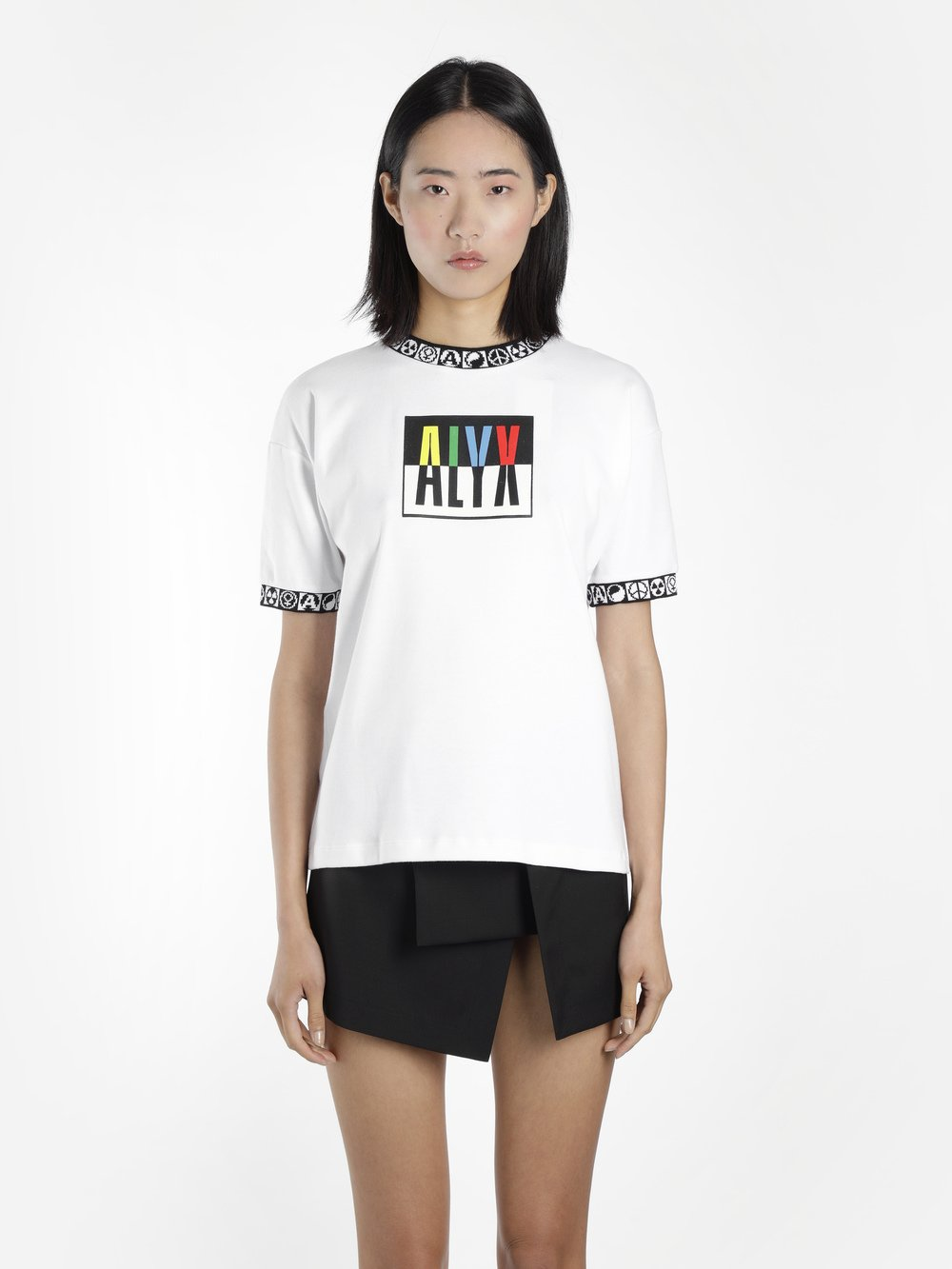 ALYX Color Block Logo Print Jersey T-Shirt in White