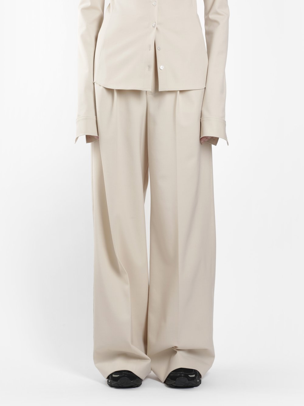 KWAIDAN EDITIONS WOMEN'S BEIGE WIDE LEGS TROUSERS