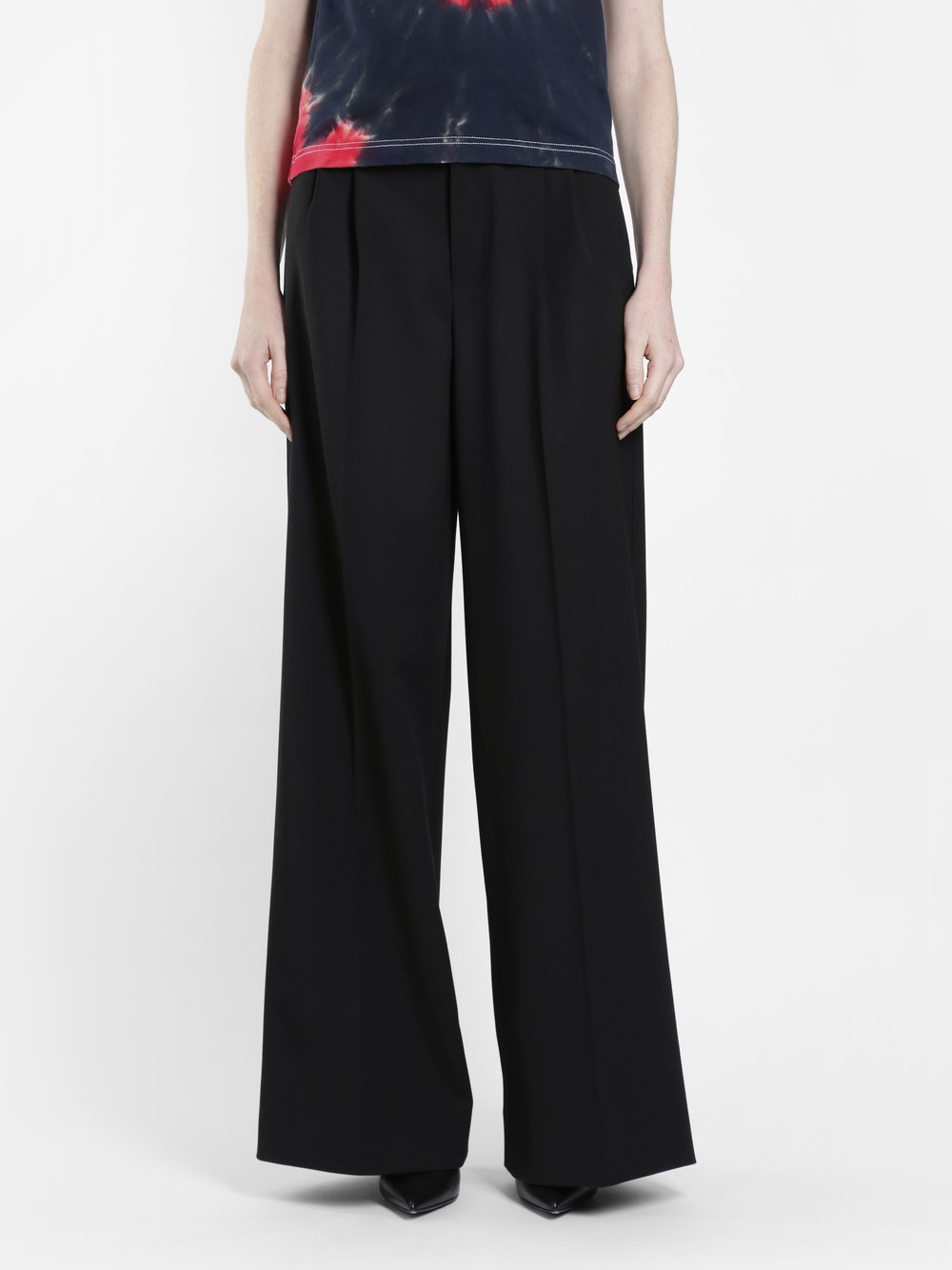 KWAIDAN EDITIONS WOMEN'S BLACK WIDE LEGS TROUSERS
