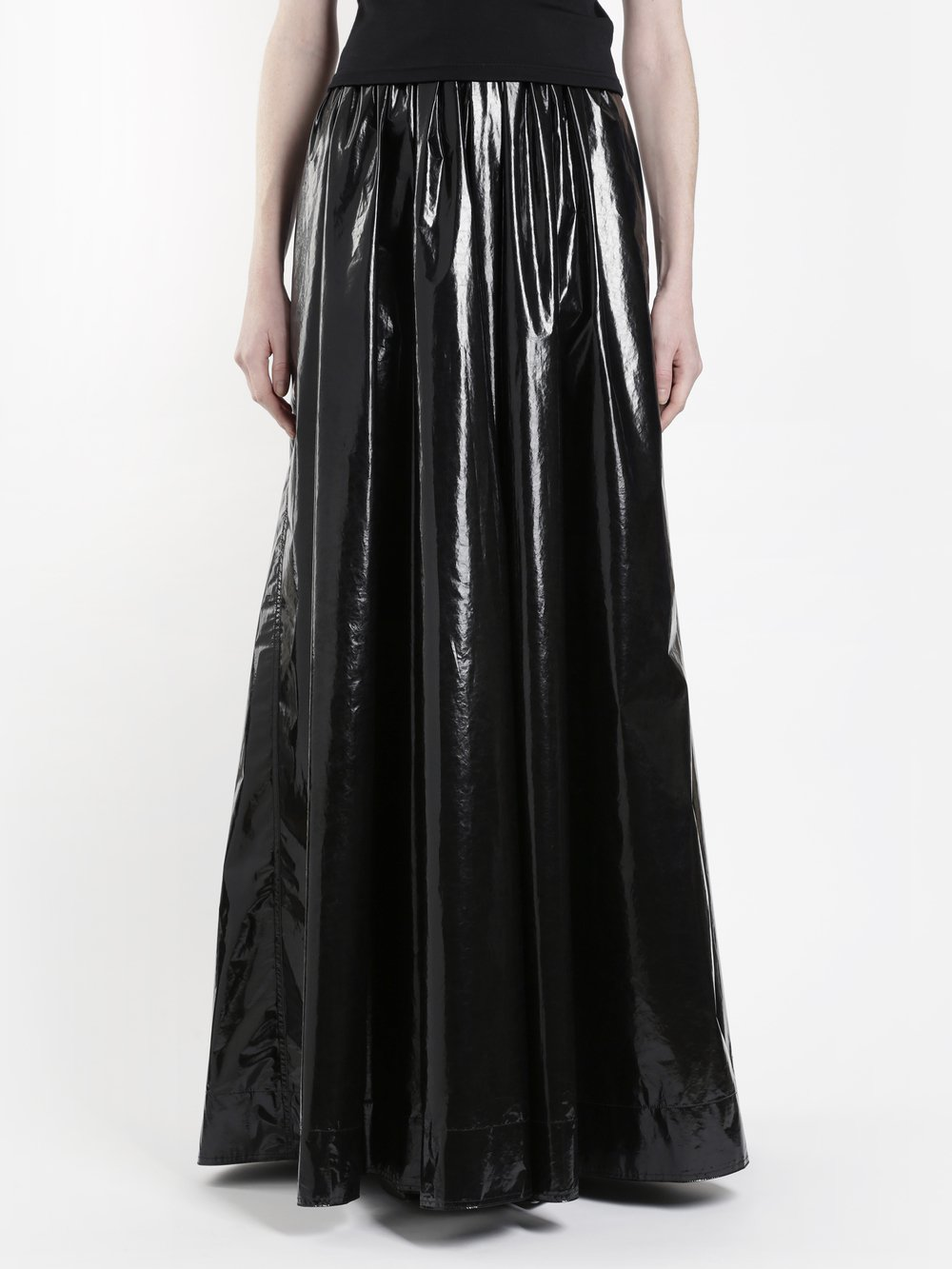 KWAIDAN EDITIONS WOMEN'S BLACK SHINY RUBBISH SKIRT
