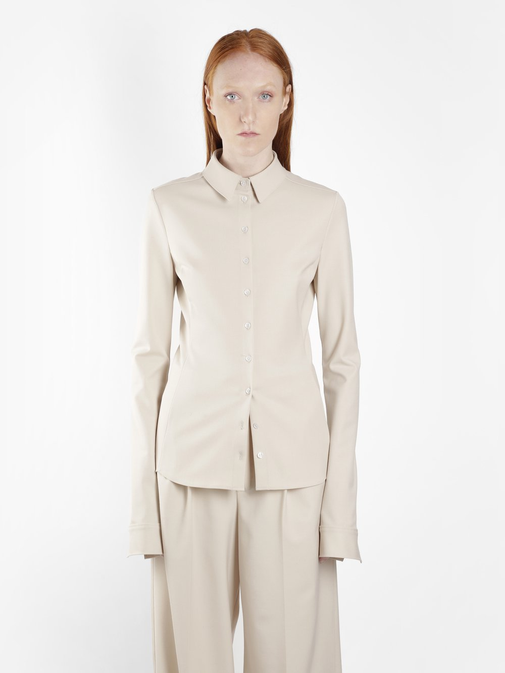 KWAIDAN EDITIONS WOMEN'S BEIGE SLIM SHIRT