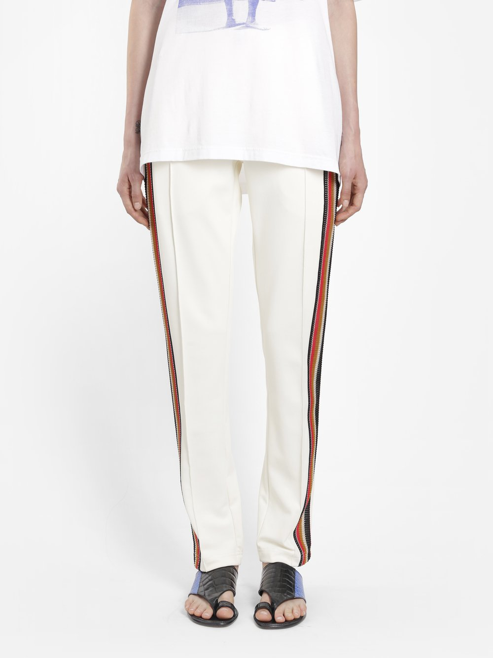 WALES BONNER WOMEN'S OFF-WHITE PALMS TRACKPANT WITH CROCHET DETAIL