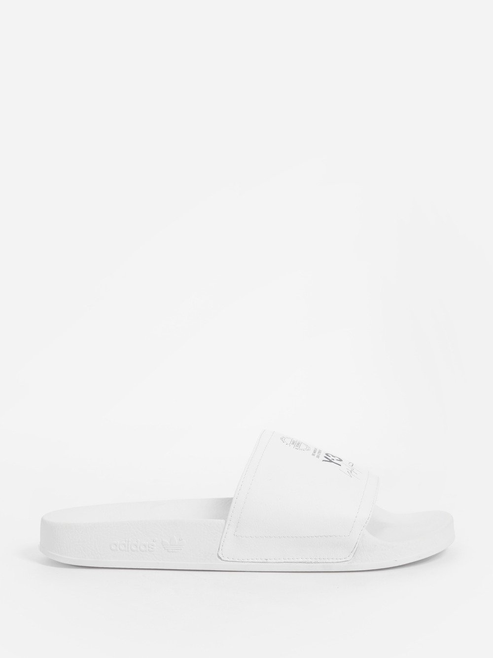 ADILETTE WHITE RUBBER AND SYNTHETIC LEATHER SLIPPER