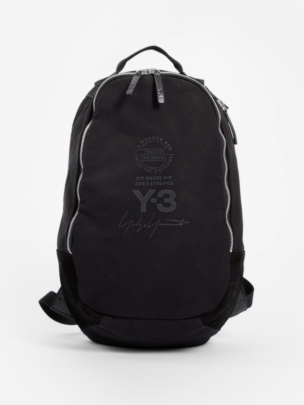 BLACK SIGNATURE NYLON BACKPACK