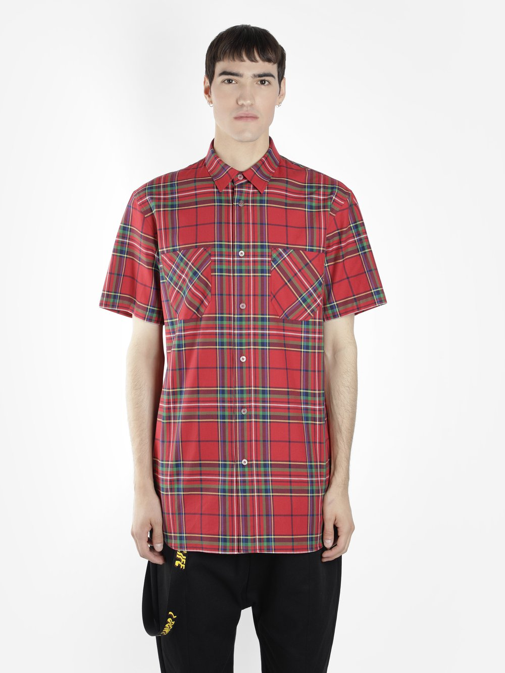 D BY D MEN'S RED CHECK SHIRT