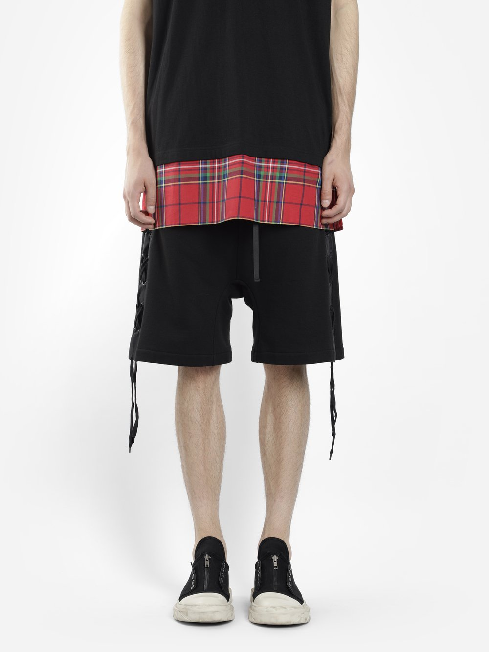 D BY D MEN'S BLACK SHORTS WITH LACING