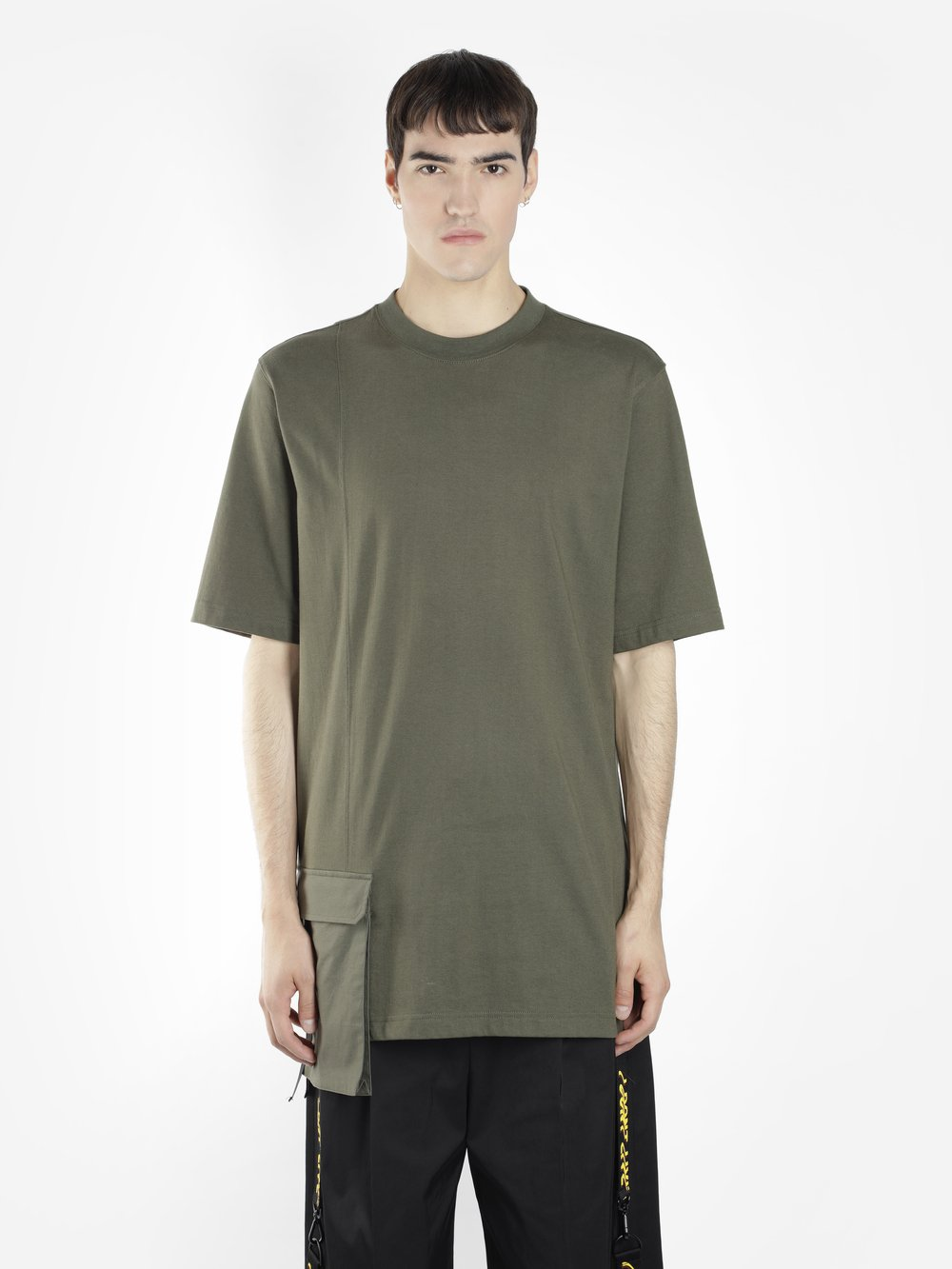 D BY D MEN'S GREEN LONG T-SHIRT WITH POCKET