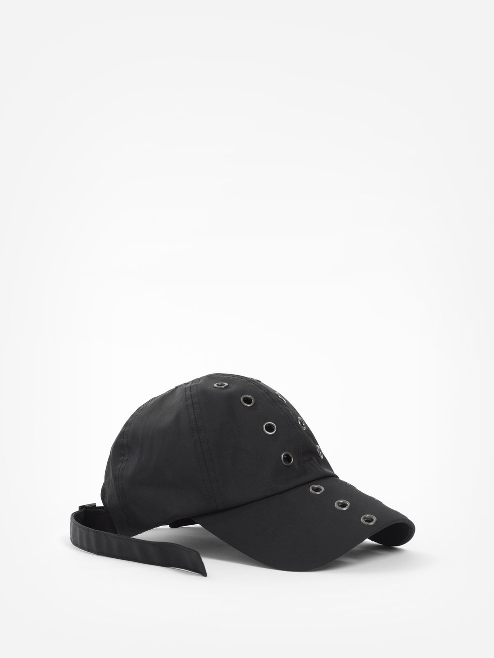 D.GNAK BY KANG.D MEN'S BLACK EYELETS CAP