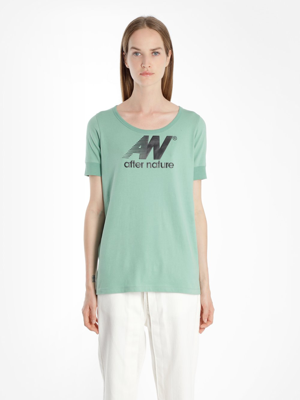 AALTO Cotton Aftern Nature T-Shirt in Green