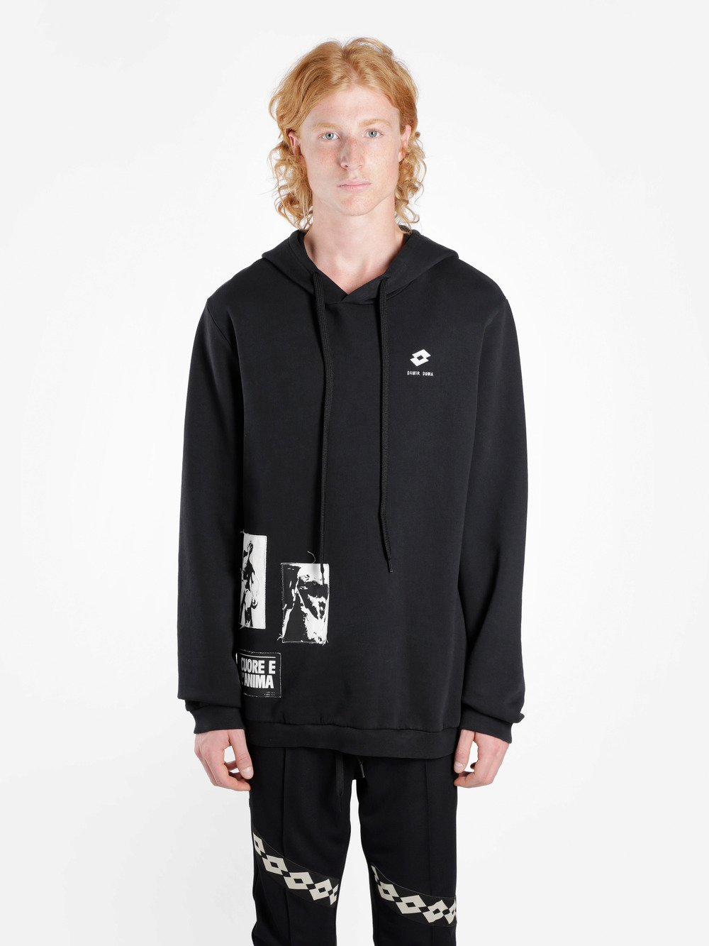 DAMIR DOMA X Lotto Welf Hoodie in Black