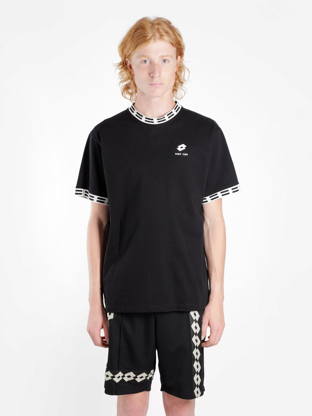 DAMIR DOMA Lotto Cotton Jersey T-Shirt in Black