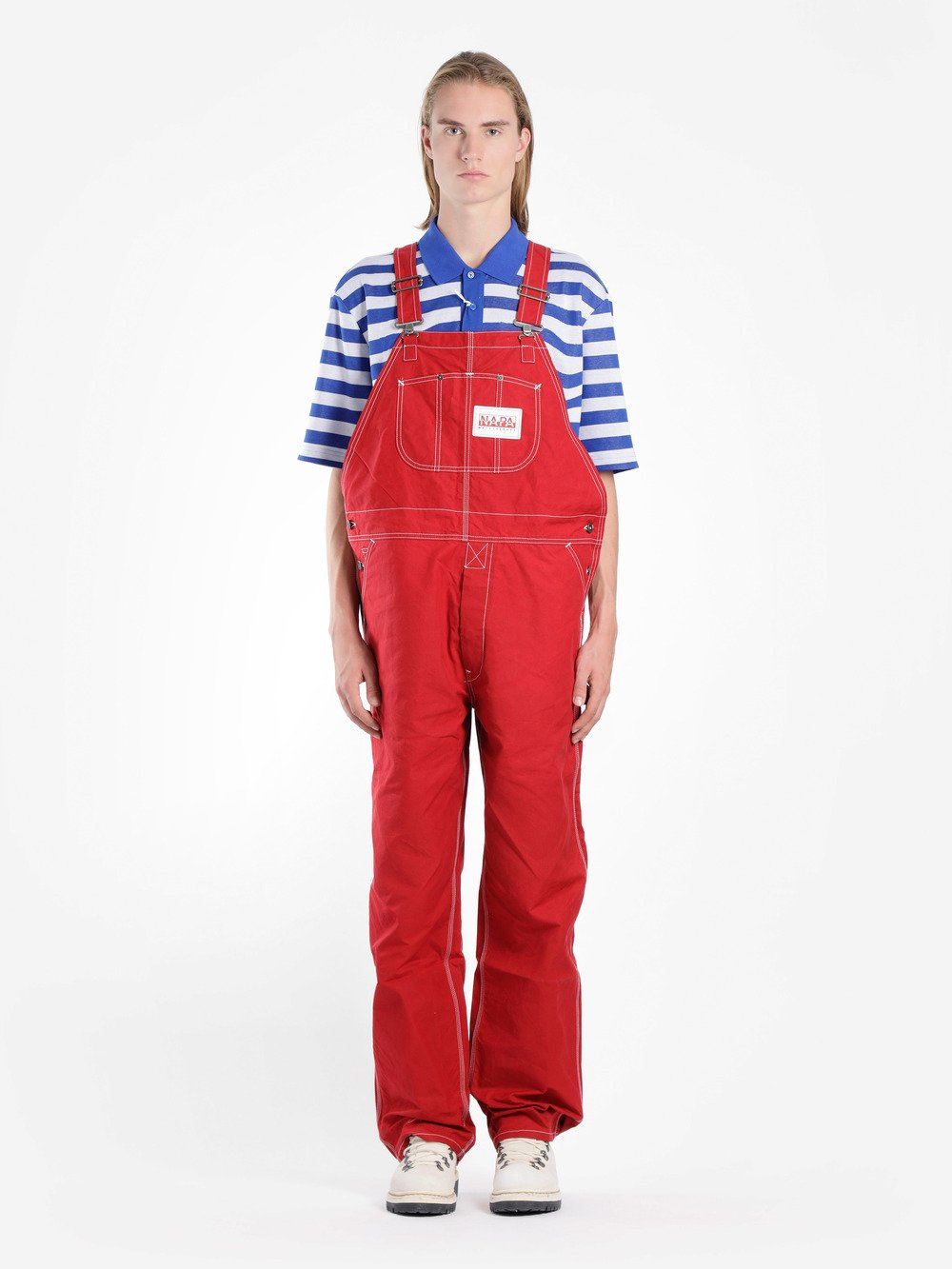 NAPA BY MARTINE ROSE CONTRAST STITCH DUNGAREES