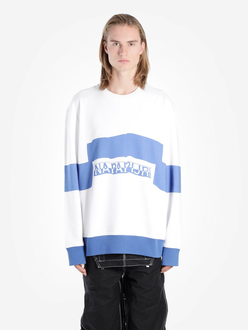 "NAPA BY MARTINE ROSE ""NAPAPIJRI"" COTTON FRENCH TERRY SWEATSHIRT"