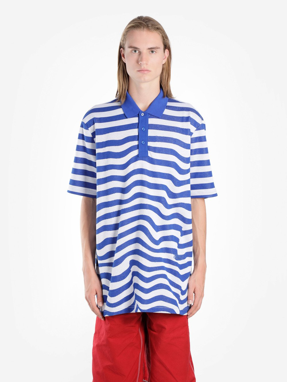 NAPA BY MARTINE ROSE Blue & White Stripe Ecce Polo