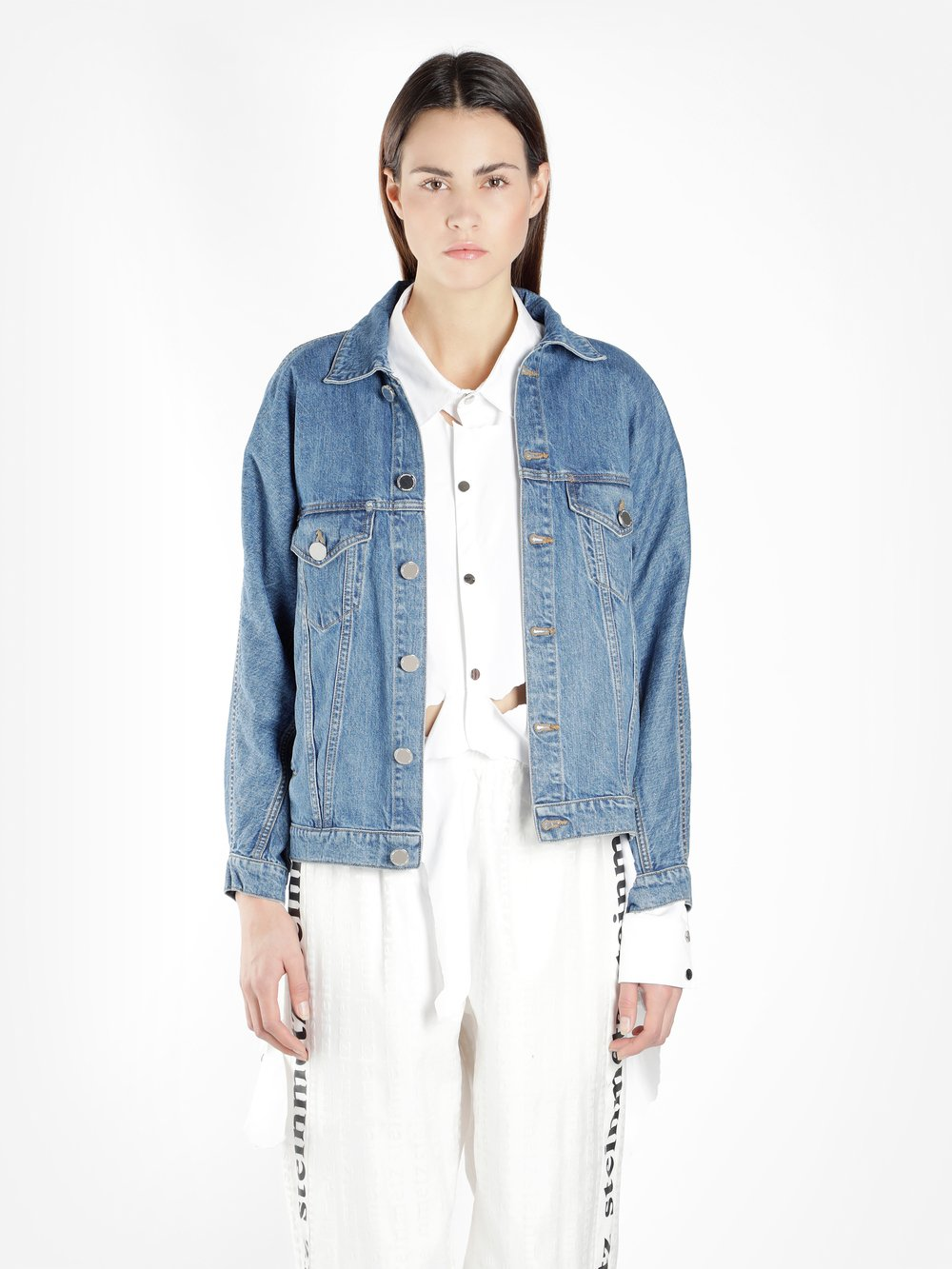 FAUSTINE STEINMETZ WOMEN'S BLUE RECYCLED DENIM JACKET