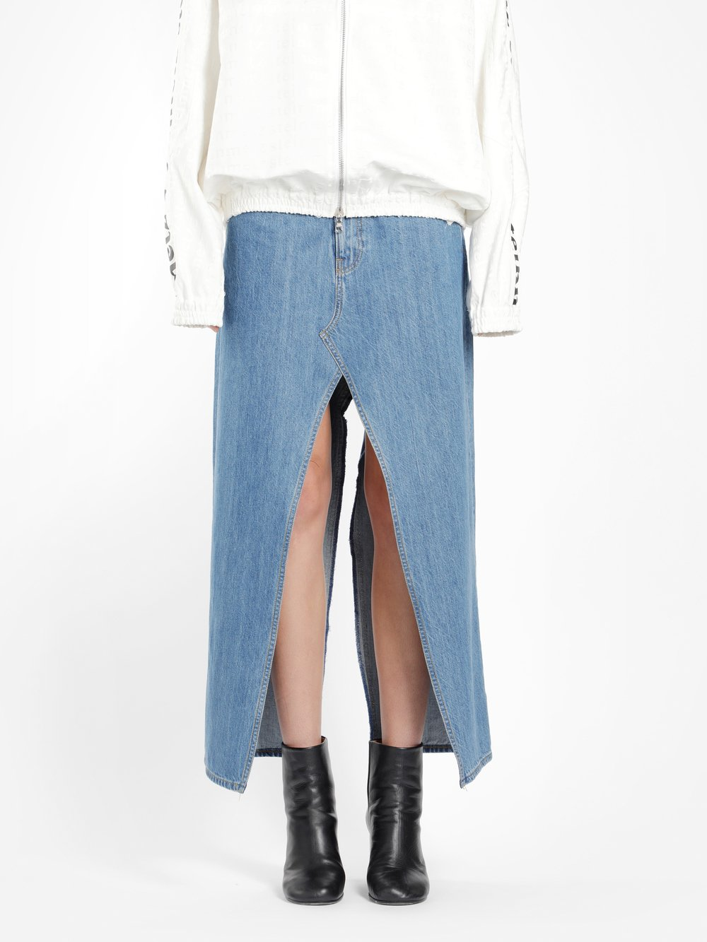 FAUSTINE STEINMETZ WOMEN'S BLUE RECYCLED DENIM SKIRT