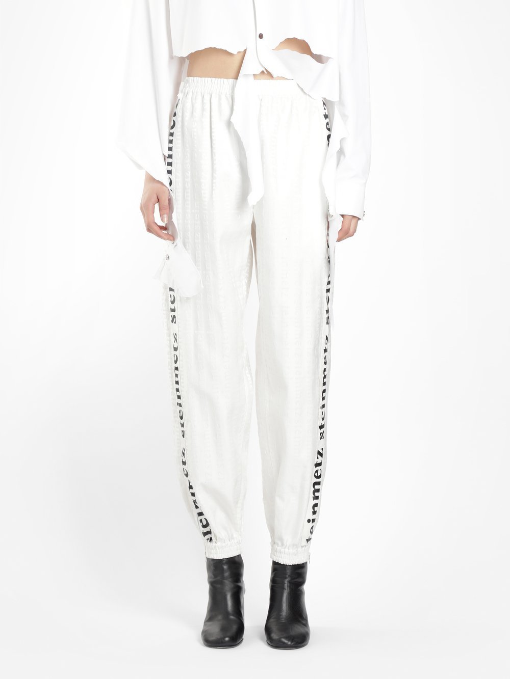 FAUSTINE STEINMETZ WOMEN'S OFF WHITE LOGO PATTERNED SWEATPANTS