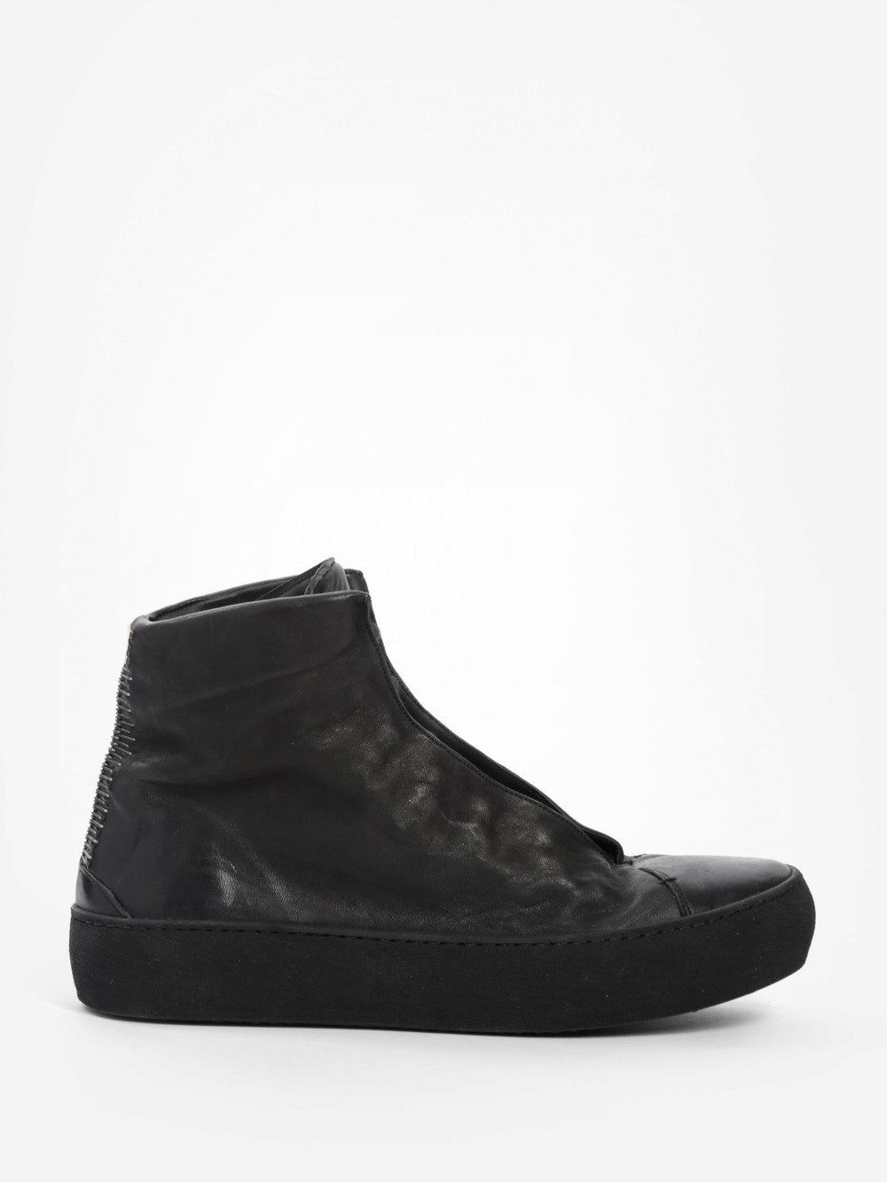 ISAAC SELLAM MEN'S BLACK HIGH SNEAKERS