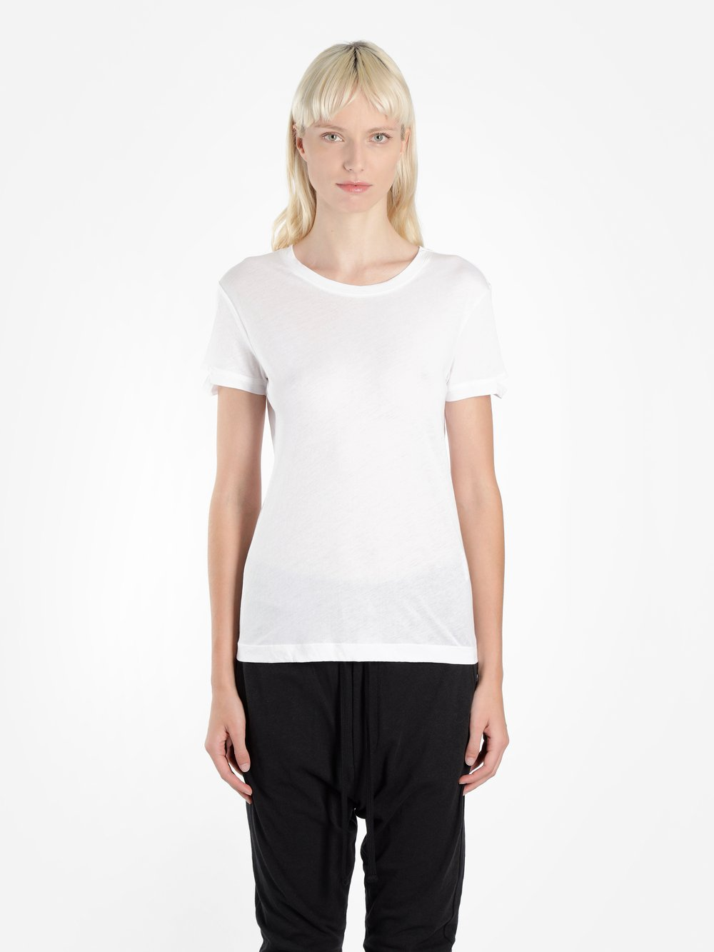 Thom Krom THOM KROM WOMEN'S WHITE BASIC T-SHIRT