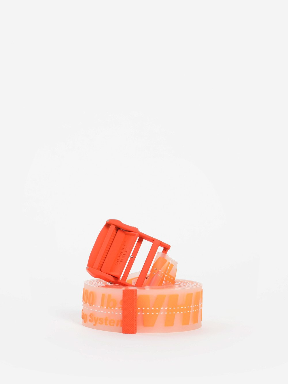 Off-White Off White C O Virgil Abloh Men S Orange Rubber Industrial Belt In e9e104e68904