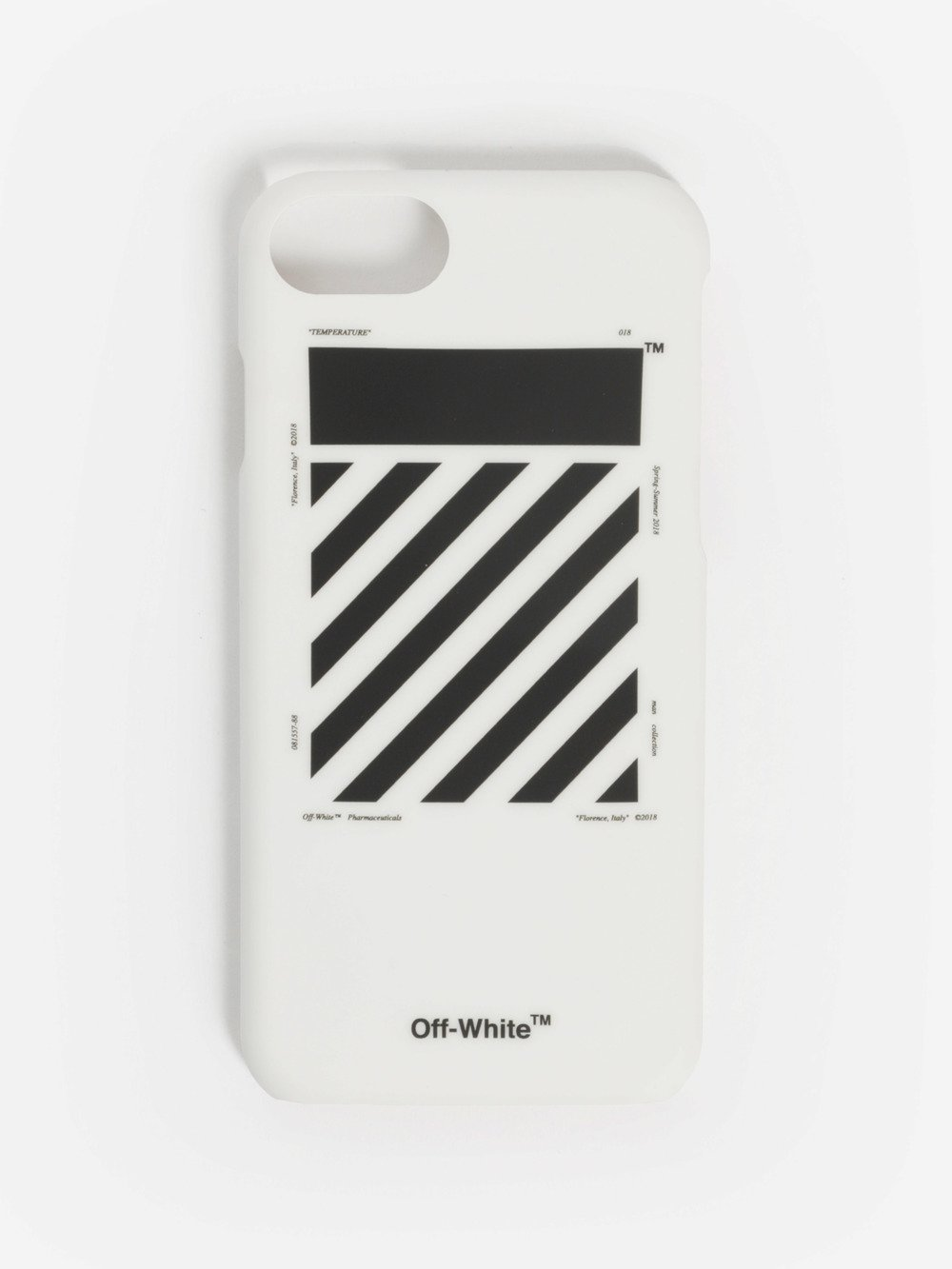 OFF WHITE C/O VIRGIL ABLOH BLACK AND WHITE DIAGONALS IPHONE 7 CASE