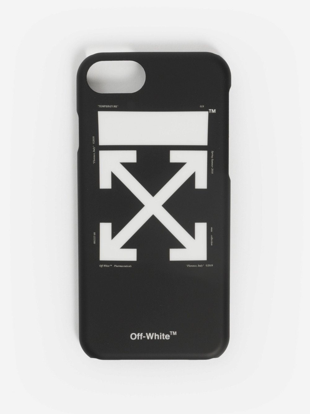 OFF WHITE C/O VIRGIL ABLOH BLACK AND WHITE ARROWS IPHONE 7 CASE