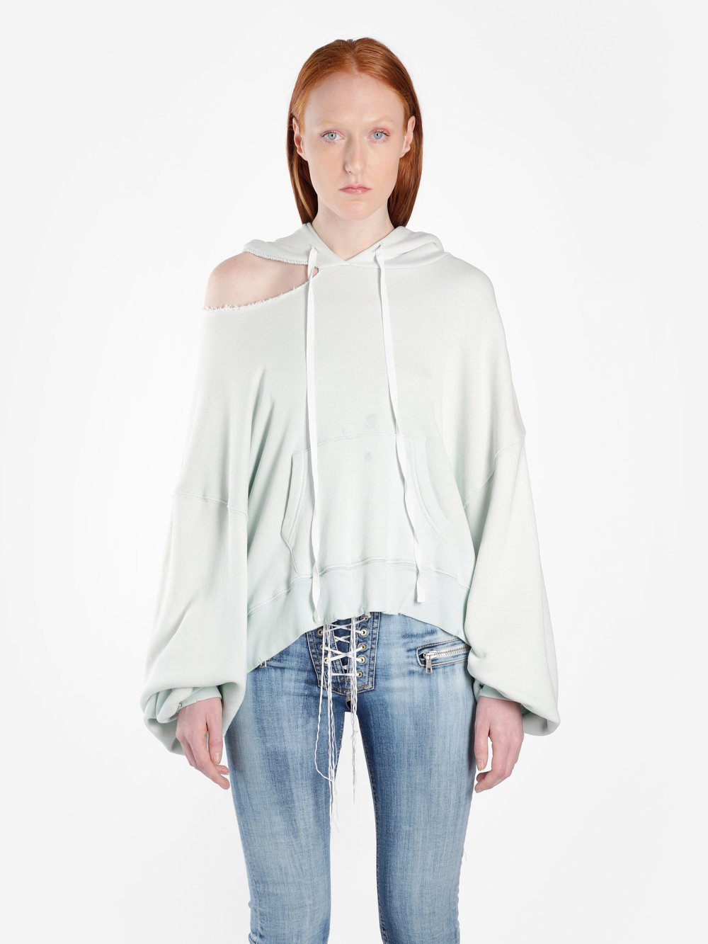 Light hoodie with cut-outs Unravel Order Cheap Online GeOb7xpje