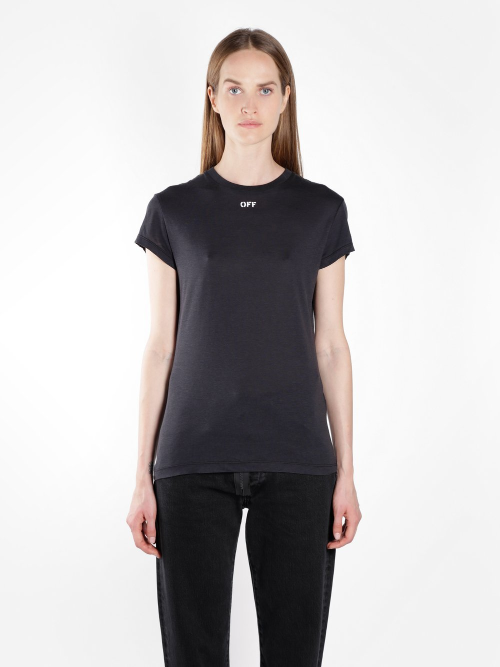 Black Off Fitted T-Shirt Off-white Clearance Reliable oUdAeMvzzt