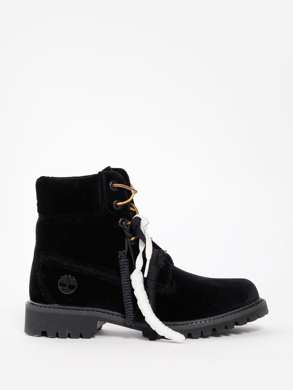 OFF WHITE C/O VIRGIL ABLOH X TIMBERLAND WOMEN'S BLACK BOOTS