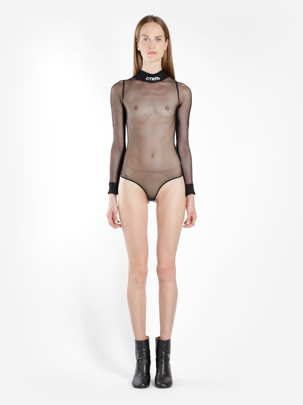 HERON PRESTON WOMEN'S BLACK CTNMB SHEER BODY