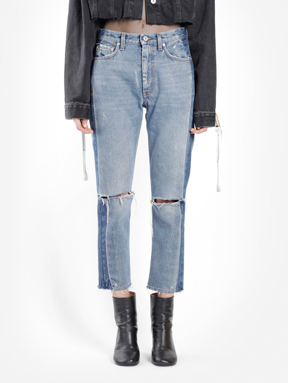 HERON PRESTON WOMEN'S BLUE CTNMB 2TONE DENIM