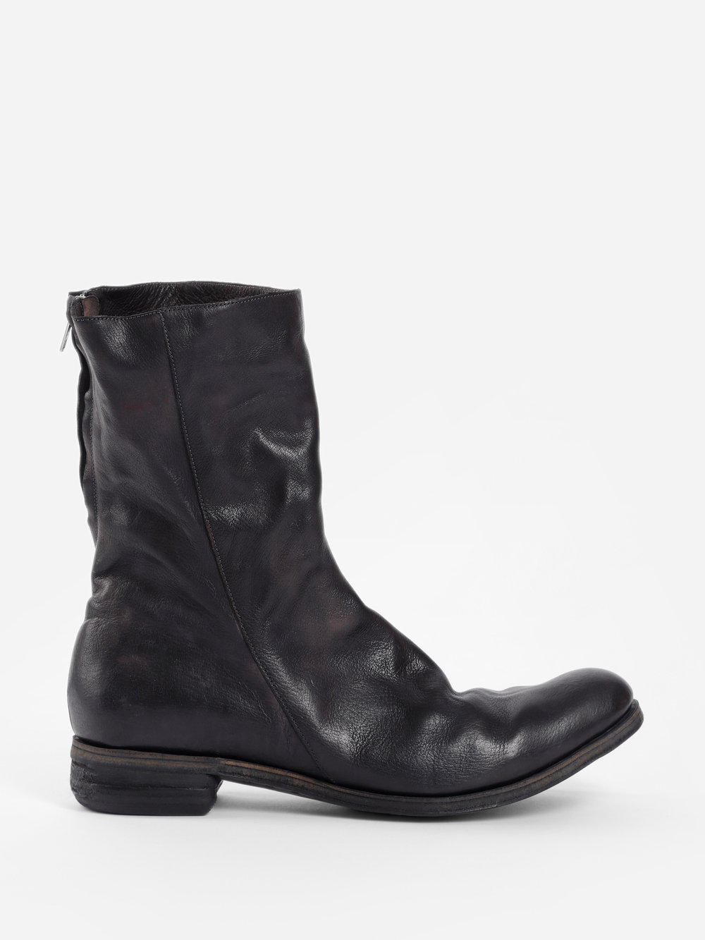 A DICIANNOVEVENTITRE MEN'S BLACK DOUBLE ZIP BOOTS