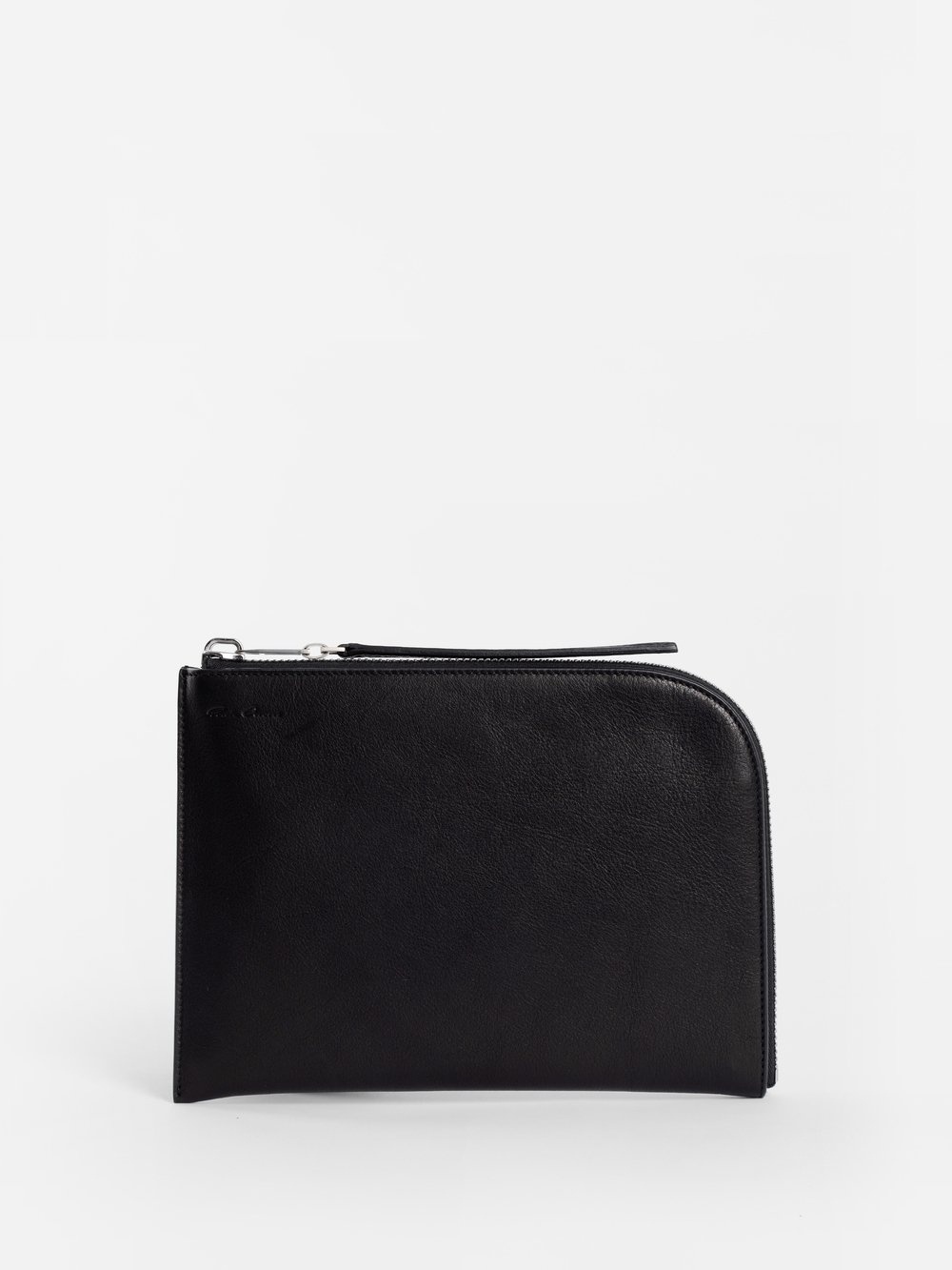 Black Medium Zip Pouch