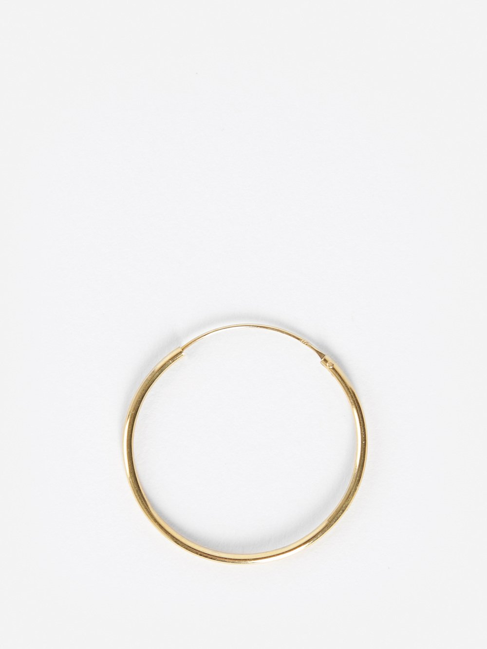 BIIS Biss Gold Plated Large Round Earring